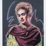 Frida Kahlo Gun Poweder Maquette 1 of 4 Original with Pastels
