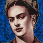 Frida Kahlo 1 of 3 HC Blue BackGround