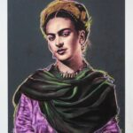 Frida Kahlo 1 of 2 Maquette Grey Background with Pastels